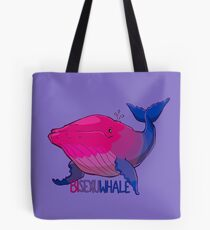 Bisexuwhale - with text Tote Bag