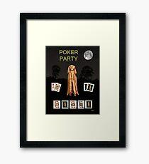 Poker Scream Party Poker Framed Print