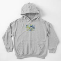 Cute Watercolor Chinoiserie Garden Kids Pullover Hoodie