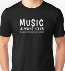 Music Always Helps - Rollercoaster Records Kilkenny T-Shirt