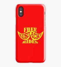 Free Mustache Rides geek funny nerd iPhone Case