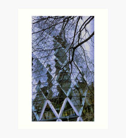 the gherkin reflects Art Print