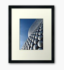 Futuristic Modern Curved Exterior of Selfridges Building in Birmingham Framed Print