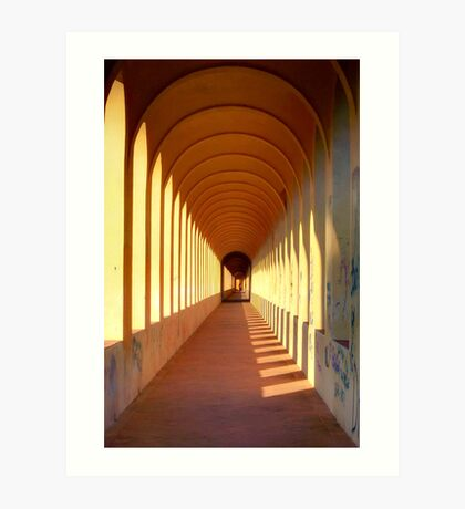 Endless archways Art Print
