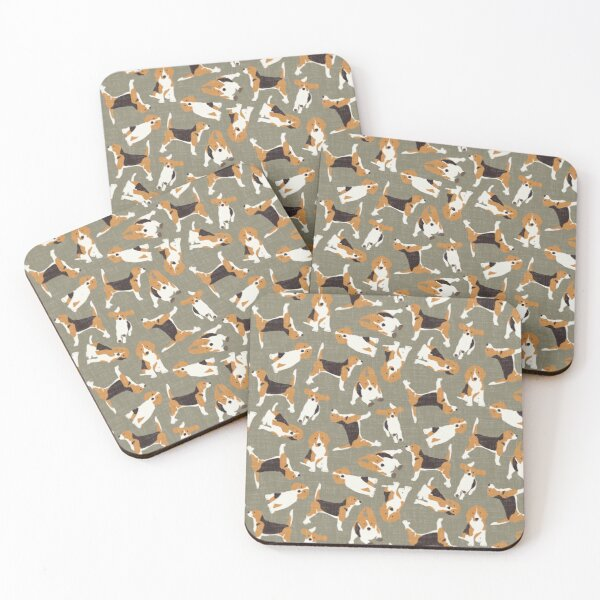beagle scatter stone Coasters (Set of 4)