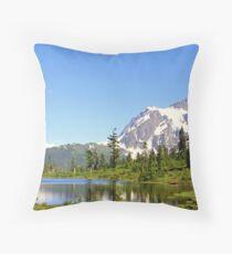 """Mount Shuksan Spring"" Throw Pillow"