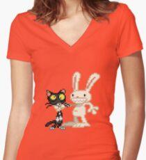 Sam & Max #03 Women's Fitted V-Neck T-Shirt