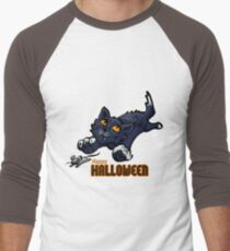 Spooky Animals Cat and Mouse Men's Baseball ¾ T-Shirt