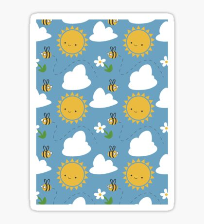 Sunshine and Bees Sticker