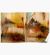 Neurosis Diptych. 48 x 30. Acrylic Painting.  Poster