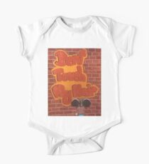 graffiti girl Short Sleeve Baby One-Piece