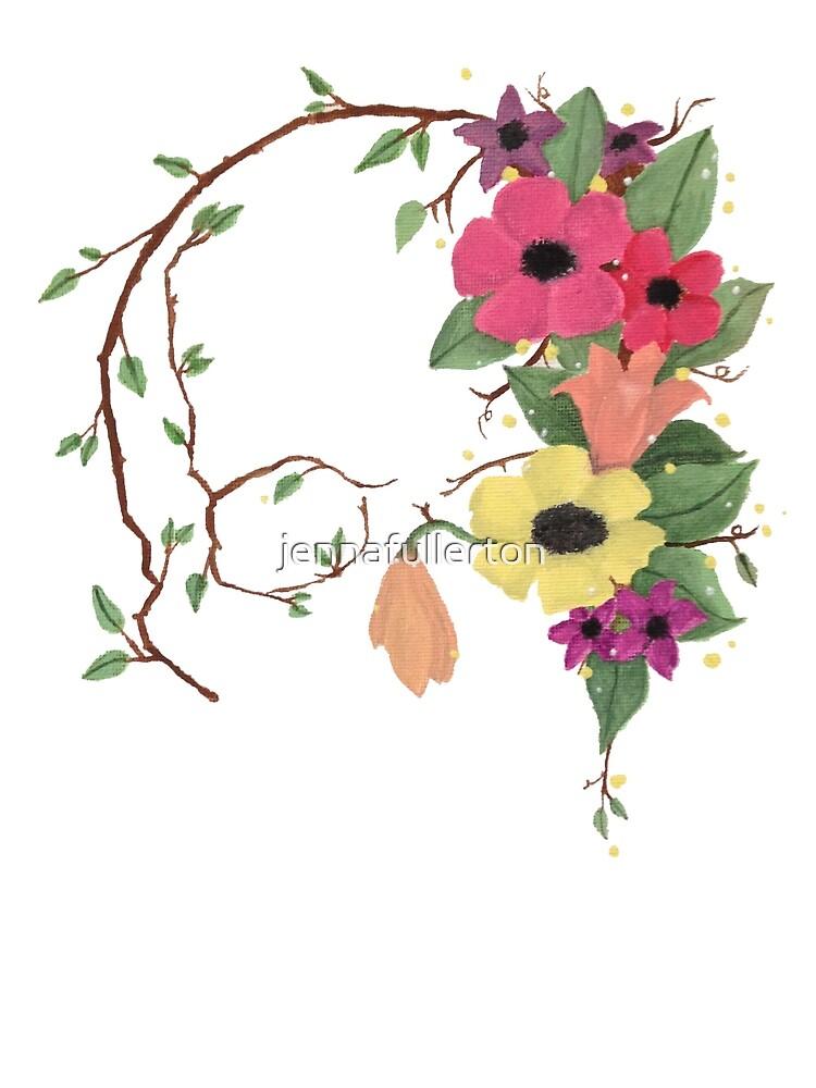 Flower Skull by jennafullerton