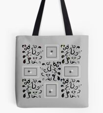 Tiny Faces Tote Bag