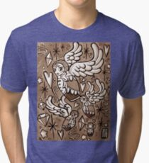 (Sepia) Wings of Desire Tri-blend T-Shirt