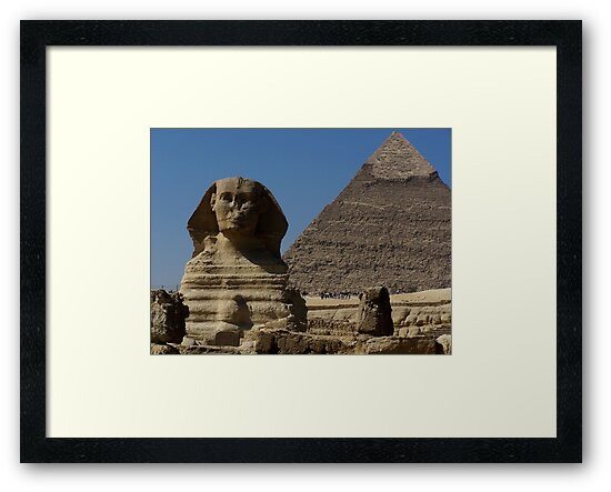 Great Sphinx Monument and Khafre Pyramid Giza Cairo by HotHibiscus
