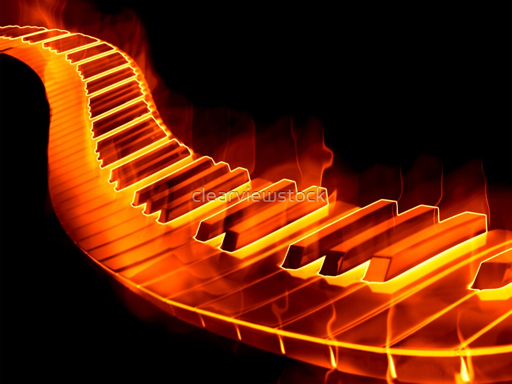 Quot Red Hot Piano Quot By Clearviewstock Redbubble