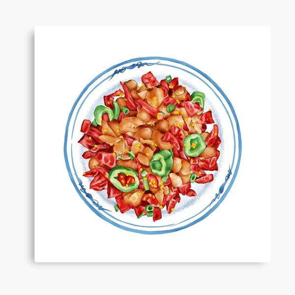 Spicy Chicken | 辣子鸡 Canvas Print