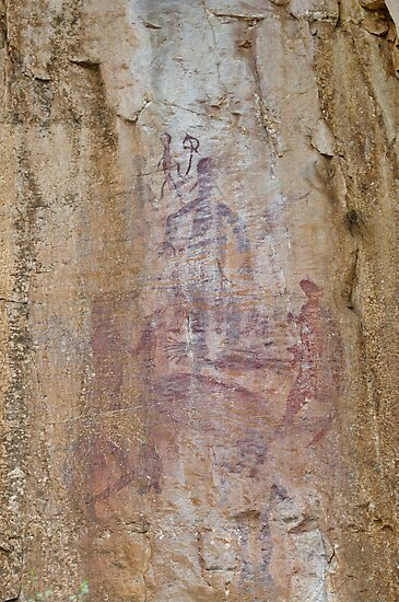 Rock Art 2 - Katherine Gorge, NT. by clearviewstock