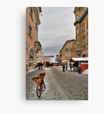 Street for pedestrians Canvas Print