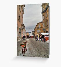 Street for pedestrians Greeting Card