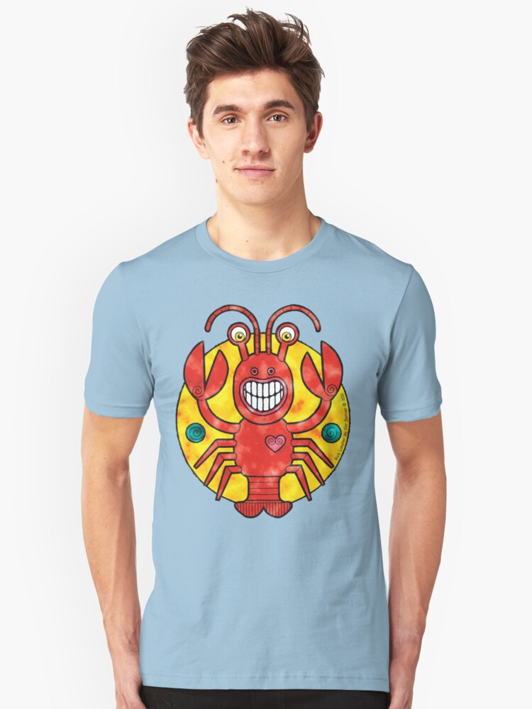 Rick Lobster (Clouds) Unisex T-Shirt Front