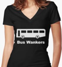 The Inbetweeners - Bus Wankers Women's Fitted V-Neck T-Shirt