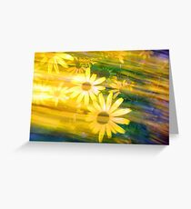 Sun Flower Rush Greeting Card