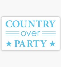 Country Over Party Unified US Politics Glossy Sticker
