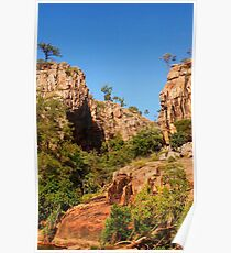 A gorgeous rocky scene in Katherine Gorge HDR Poster