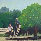Harvest Time at Dry Creek Peach by Cyndi Gonzalez