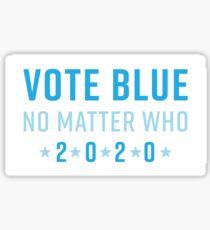 Vote Blue No Matter Who 2020 Glossy Sticker