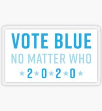 Vote Blue No Matter Who 2020 Transparent Sticker