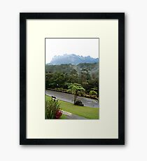 Scenic Mount Kinabalu National Park Mountain View Framed Print