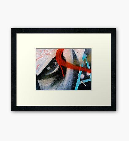 The Letter Eye Framed Print