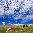 Fields, bales, clouds by Akif  Kaynak