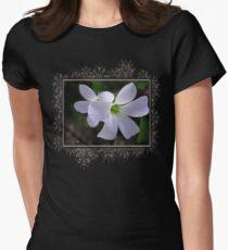 Oxalis Triangularis or Burgundy Shamrock Womens Fitted T-Shirt