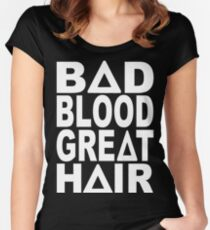 Bastille - Bad Blood, Great Hair Women's Fitted Scoop T-Shirt