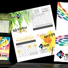 Various rebranding projects for Exe Print by Michelle Lovegrove
