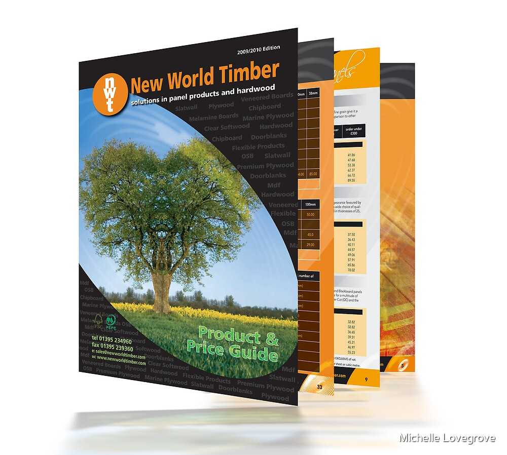 Trade Catalogue For New World Timber by Michelle Lovegrove