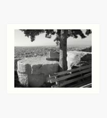 Highest Point of the City - Acropolis Art Print