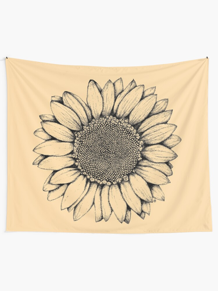Alternate view of Sunflower Wall Tapestry