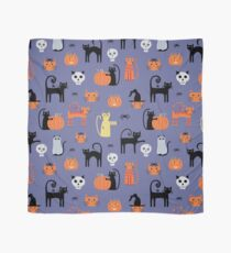 Halloween Cats and Pumpkins Scarf