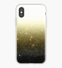 Schwarz und Gold Faux Glitter Farbverlauf iPhone-Hülle & Cover