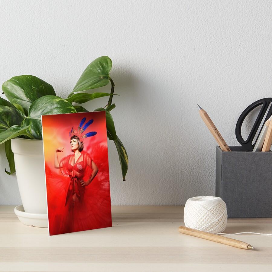 Red Art Board Print