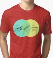 Keytar Platypus Venn-Diagramm Vintage T-Shirt