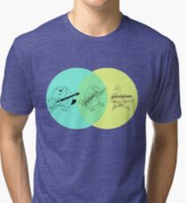 Keytar Platypus Venn Diagram Tri-blend T-Shirt