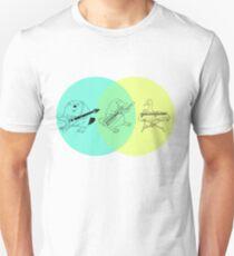 Keytar Platypus Venn-Diagramm Slim Fit T-Shirt