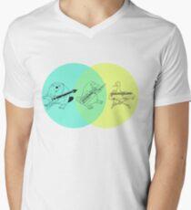 Keytar Platypus Venn Diagram Men's V-Neck T-Shirt
