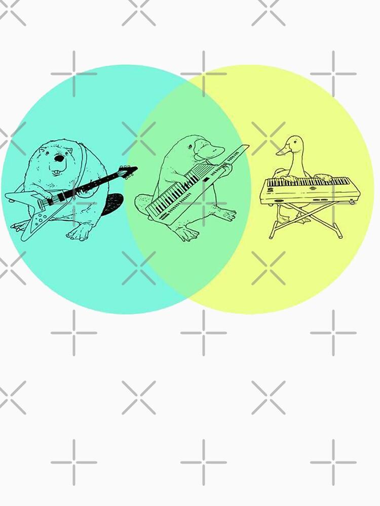 Keytar Platypus Venn Diagram Unisex T Shirt By Guyblank Redbubble
