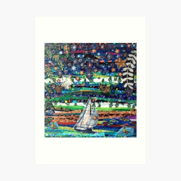 Twilight Cruise Art Print